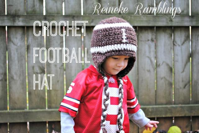 Football Crochet Hat Free Pattern Place In Progress