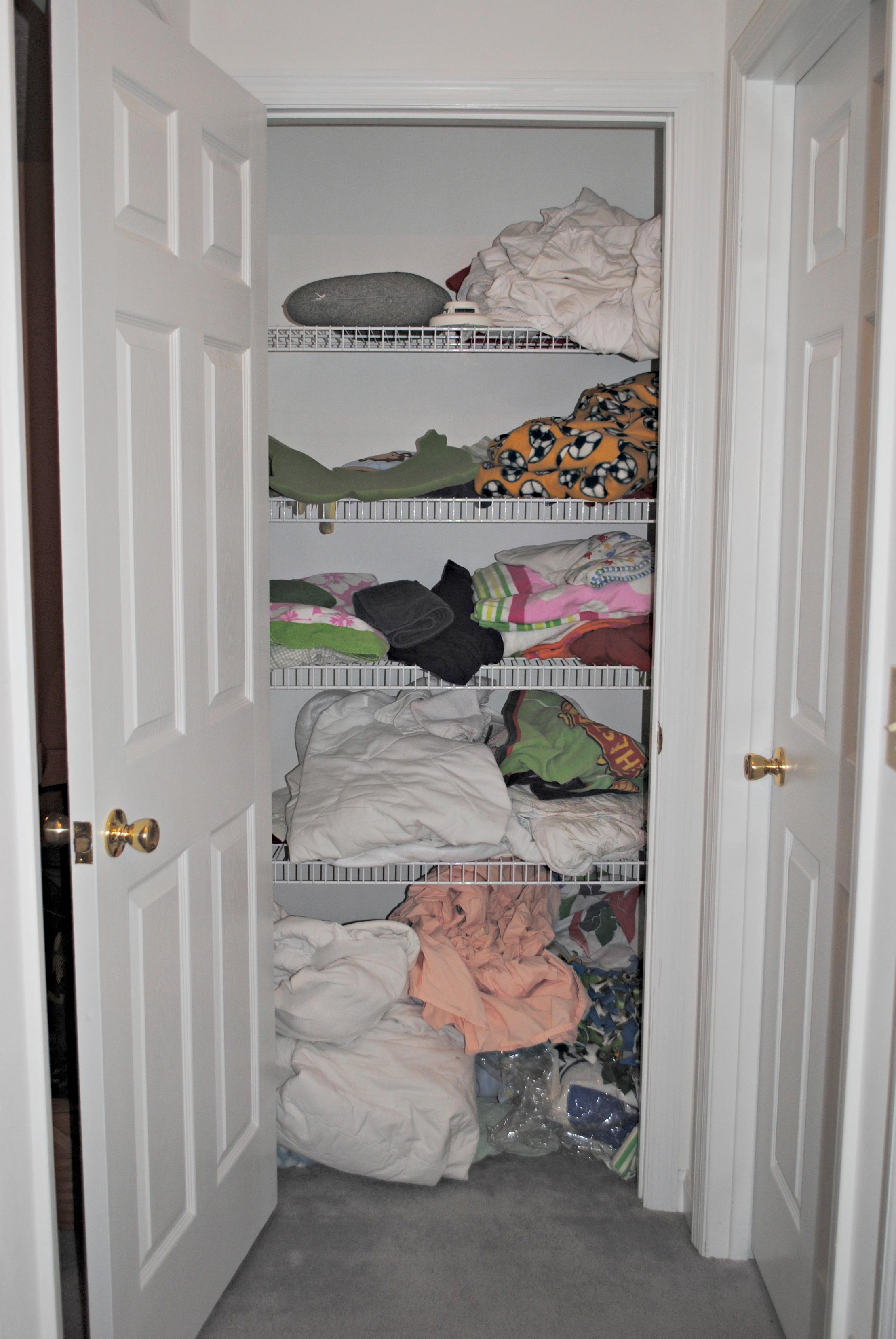 An Organized Linen Closet Cypress Wool